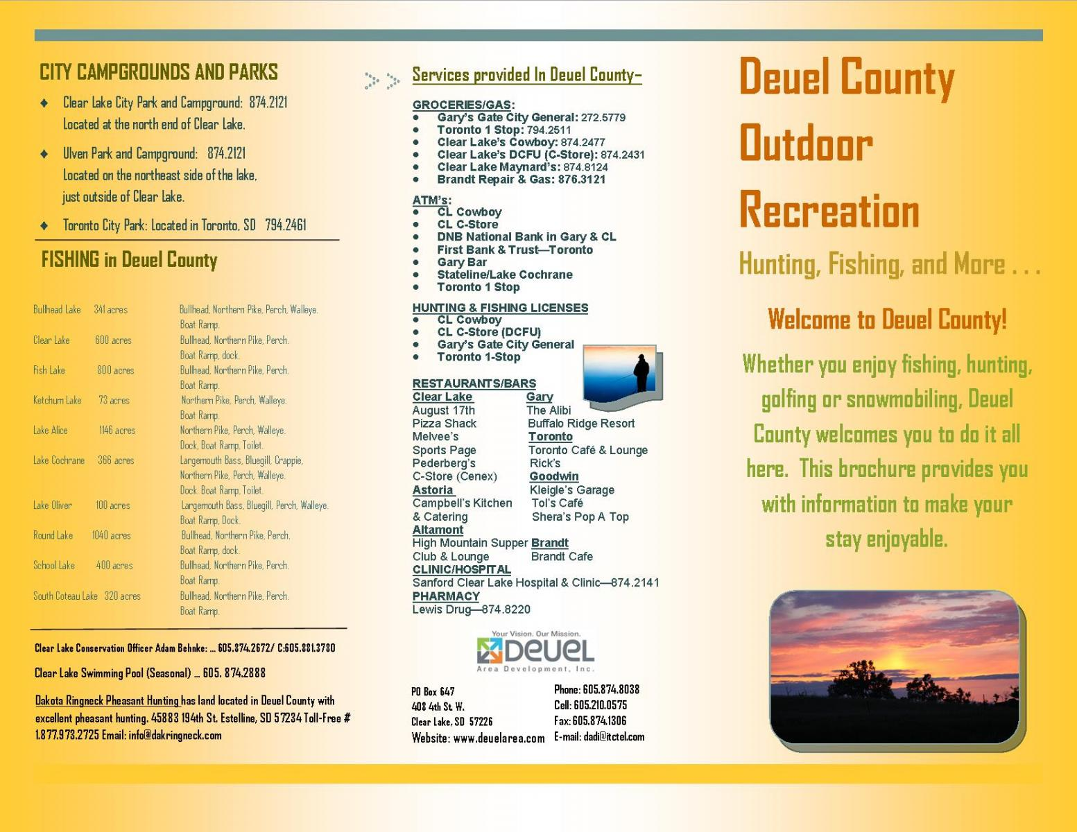Thumbnail Image For Deuel County Outdoor Recreation Brochure